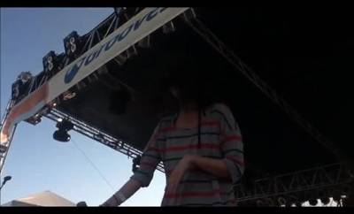 keyboardist faceplants off stage one news page video